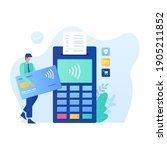 contactless payment vector...
