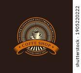 coffee shop logo design... | Shutterstock .eps vector #1905220222