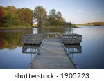 A Boat Dock Overlooks A...