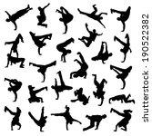 break dance silhouettes | Shutterstock .eps vector #190522382