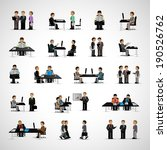 business peoples   isolated on... | Shutterstock .eps vector #190526762