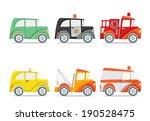 retro little cars   set 2   Shutterstock .eps vector #190528475