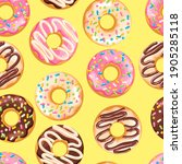 delicious fresh sweet donut... | Shutterstock .eps vector #1905285118