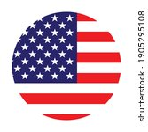 the round american flag. star... | Shutterstock .eps vector #1905295108