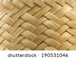 Woven Bamboo Texture And...