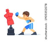 boxer boy training with...   Shutterstock .eps vector #1905352078