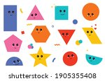 set of geometric shapes with... | Shutterstock .eps vector #1905355408
