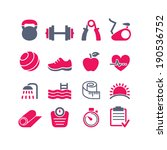 fitness club icons set vector | Shutterstock .eps vector #190536752