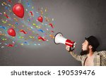 young guy having fun  shouting... | Shutterstock . vector #190539476