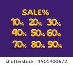 set of sale off discount... | Shutterstock .eps vector #1905400672