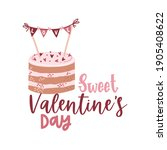 valentine's day card with...   Shutterstock .eps vector #1905408622