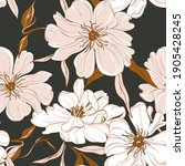 floral garden bouquet. oriental ... | Shutterstock .eps vector #1905428245
