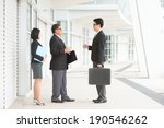 full length asian business team ... | Shutterstock . vector #190546262