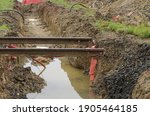 Small photo of Damaged and undermined railway tracks.