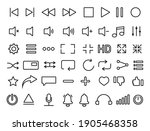 set of media player icons in... | Shutterstock .eps vector #1905468358