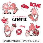 cute romantic valentine gnome... | Shutterstock .eps vector #1905479512