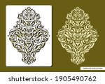 stencil with a floral pattern.... | Shutterstock .eps vector #1905490762