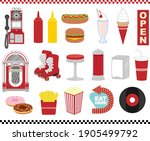 american diner illustration set ... | Shutterstock .eps vector #1905499792
