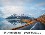 Panoramic Winter Photo Of Road...