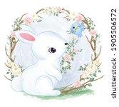 adorable baby bunny in the...   Shutterstock .eps vector #1905506572