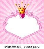 lovely princess pink frame.... | Shutterstock .eps vector #190551872