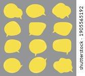 set of blank yellow speech...   Shutterstock .eps vector #1905565192