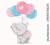 vector illustration of mom and...   Shutterstock .eps vector #1905570625