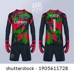 goalkeeper jersey t shirt sport ... | Shutterstock .eps vector #1905611728