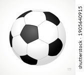 football vector icon. black and ... | Shutterstock .eps vector #1905640915