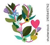 medical stethoscope flowers... | Shutterstock .eps vector #1905645742
