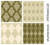 set of seamless patterns with... | Shutterstock .eps vector #1905666118