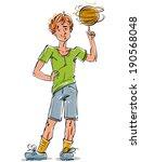 bright vector full length... | Shutterstock .eps vector #190568048