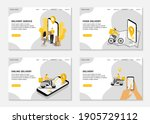 online delivery landing pages.... | Shutterstock .eps vector #1905729112