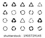 set of recycle icon symbol... | Shutterstock .eps vector #1905729145