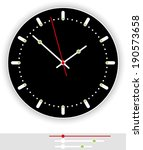 clock face black   illustration ... | Shutterstock .eps vector #190573658