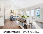 Modern Farmhouse With White And ...