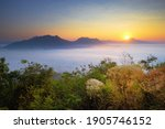 Misty Landscape View From Phu...