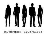 vector silhouettes of  men and... | Shutterstock .eps vector #1905761935