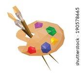 illustration of geometric... | Shutterstock .eps vector #190578665