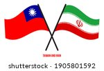 taiwan and iran flags crossed... | Shutterstock .eps vector #1905801592