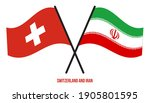 switzerland and iran flags... | Shutterstock .eps vector #1905801595