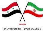 syria and iran flags crossed... | Shutterstock .eps vector #1905801598