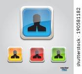 web businessman icon square | Shutterstock .eps vector #190581182