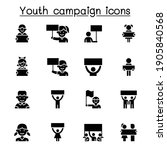 youth campaign related vector... | Shutterstock .eps vector #1905840568