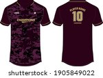 camouflage sports jersey t... | Shutterstock .eps vector #1905849022