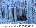 Winter Frozen Waterfall In...
