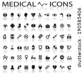 medical icons | Shutterstock .eps vector #190585406