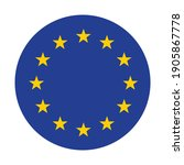 the round flag of the european...   Shutterstock .eps vector #1905867778