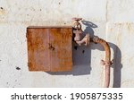 Old And Rusty Fire Cabinet With ...