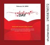 valentines day sale banner ...   Shutterstock .eps vector #1905878572